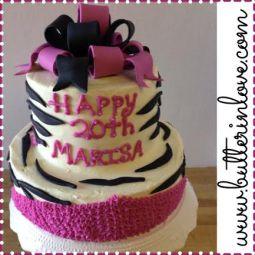 Birthday Zebra Cake