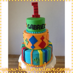 Fiesta First Birthday Cake