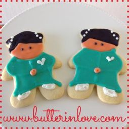 Japanese Doll Cookies