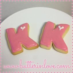 Letter K Sugar Cookies