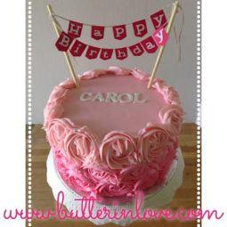 Ombre Rosette Buttercream Cake