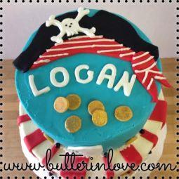 Pirate First Birthday Cake