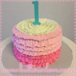 Ruffle First Birthday Smash Cake