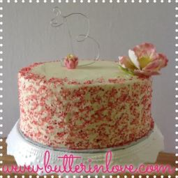 Sugar Flower and Sprinkles Cake