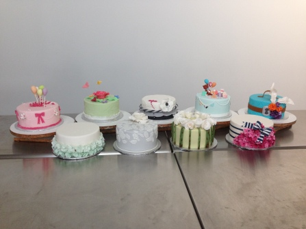All the cakes from class.