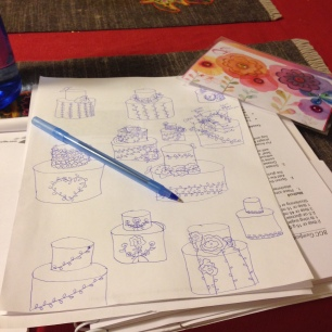 Sketching out ideas.