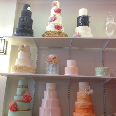 Beautiful display cakes at The Rolling Pin