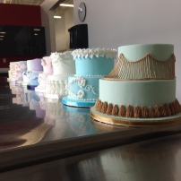 The lambeth cakes lined up