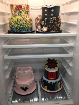 In the fridge.
